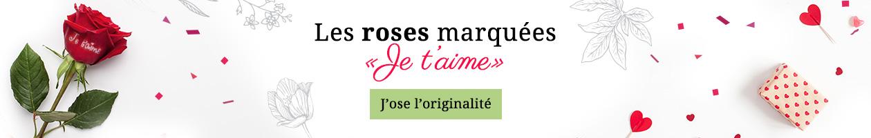 Livraison de roses marquées je t'aime