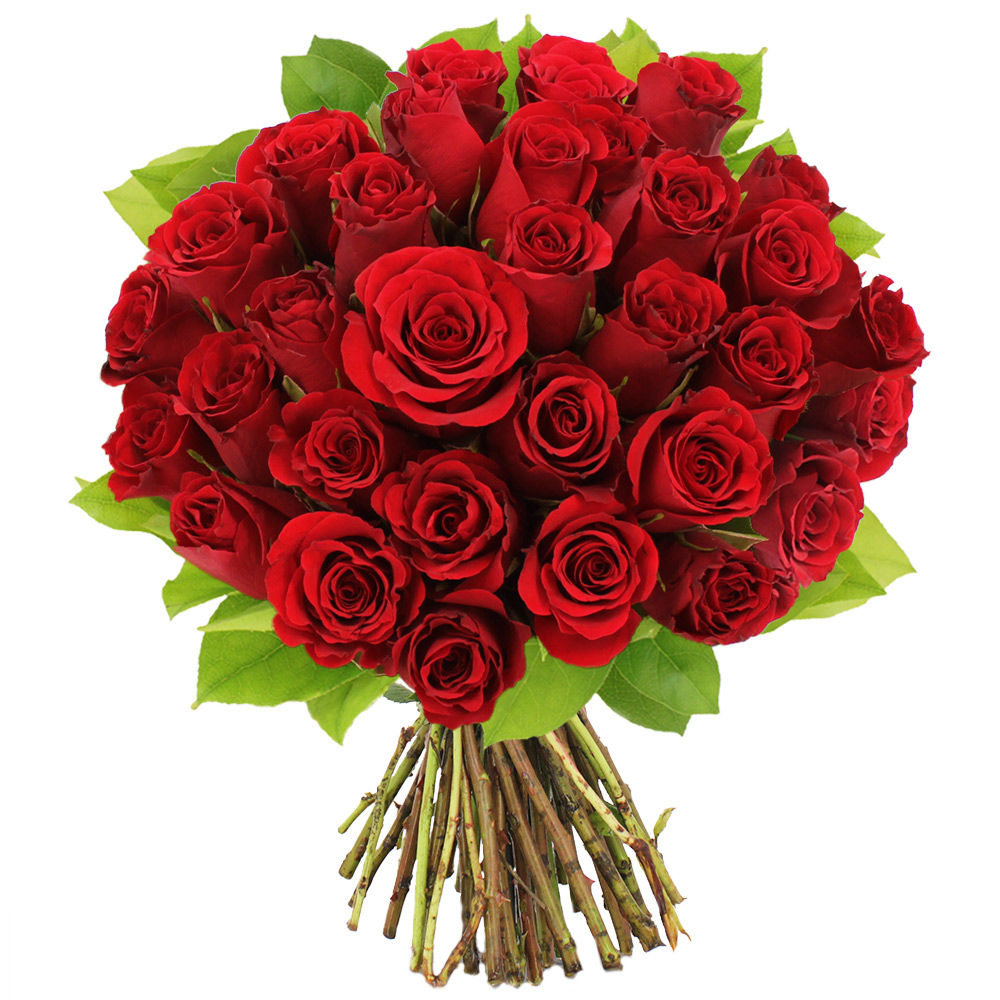 Bouquet de 30 roses rouges livraison en express florajet for Bouquet de rose
