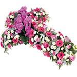 Fleurs deuil : Croix pour obsèques.