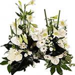 Fleurs deuil : Devant de tombe pour obsèques.