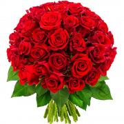 Bouquets de fleurs 50 roses rouges