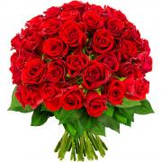 Bouquets de fleurs 60 roses rouges
