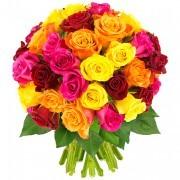Bouquets de fleurs 40 roses multicolores