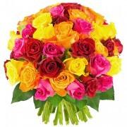 Bouquets de fleurs 50 roses multicolores