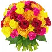 Bouquets de fleurs 60 roses multicolores