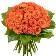 Bouquets de fleurs 30 roses orange