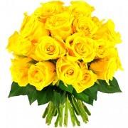 Bouquets de fleurs 30 roses jaunes