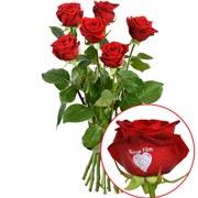 Bouquets de fleurs 5 + 1 rose marquee bonne fete 60cm