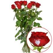 Bouquets de fleurs 11 + 1 rose marquee bonne fete 60cm