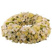 Bouquets de fleurs couronne