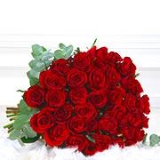 Bouquets de fleurs 6 grandes roses rouges