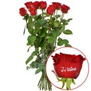 Bouquets de fleurs 11 + 1 rose marquee jtm 60cm