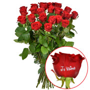 Bouquets de fleurs 23 + 1 rose marquee jtm 60cm