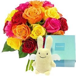 20 ROSES + LAPIN TROUSSELIER