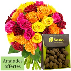 40 ROSES + AMANDES 150GR