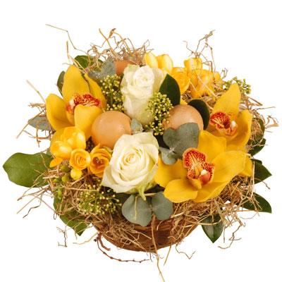 Livraison de la composition florale cocon par florajet for Livraison composition florale