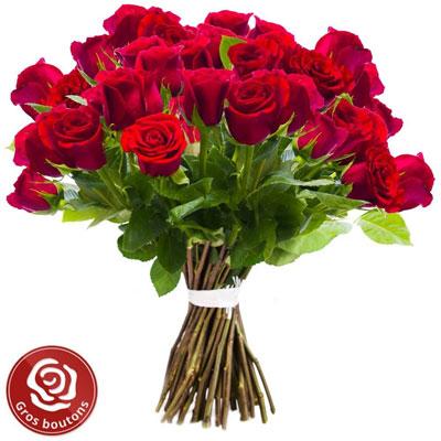 livraison du bouquet de roses amour 30 roses rouges gros boutons par florajet livraison. Black Bedroom Furniture Sets. Home Design Ideas