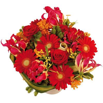 Livraison de la composition florale amour podium par for Livraison composition florale