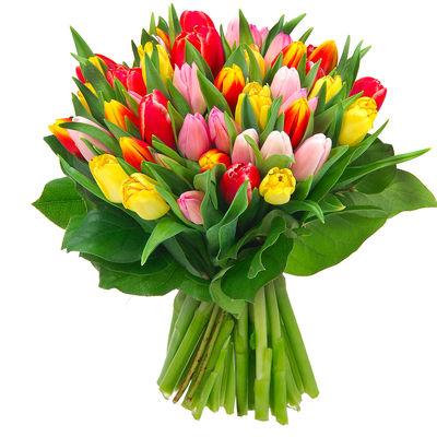 """livraison du bouquet de fleurs anniversaire : """"40 tulipes"""" par"""