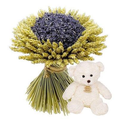livraison de fleurs bouquet provencal ourson blanc livraison france express. Black Bedroom Furniture Sets. Home Design Ideas