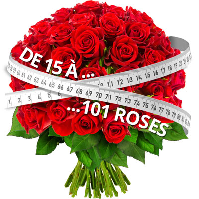 15 ROSES ROUGES