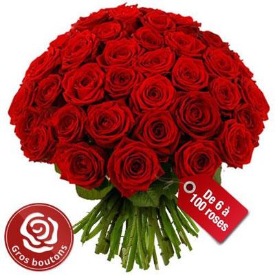 Livraison du bouquet de roses amour grandes roses for Rose livraison