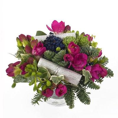 livraison de la composition florale noel tendance par florajet. Black Bedroom Furniture Sets. Home Design Ideas