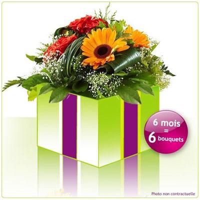 abonnement floral abonnement 6 mois par florajet. Black Bedroom Furniture Sets. Home Design Ideas