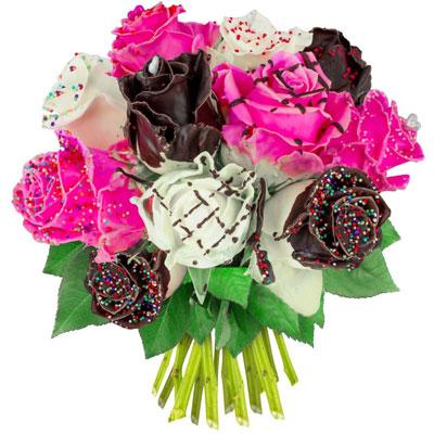 livraison du bouquet de roses anniversaire 15 roses gourmandes par florajet livraison. Black Bedroom Furniture Sets. Home Design Ideas