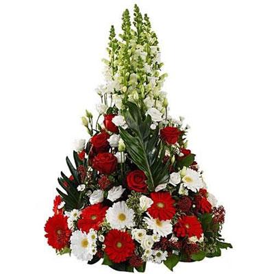 Livraison de coussin de deuil coussin conique par for Bouquet de fleurs homme