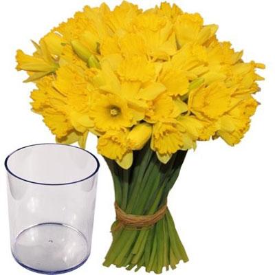 Livraison du bouquet de fleurs 30 jonquilles vase par for Bouquet de fleurs 30 euros