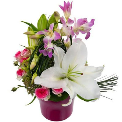 Livraison de la composition florale anniversaire mousse - Composition florale anniversaire ...