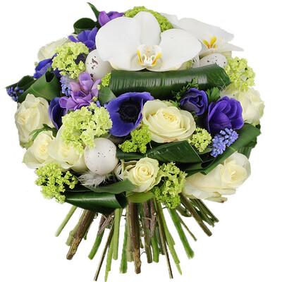 livraison du bouquet de fleurs oeuf de paques par florajet. Black Bedroom Furniture Sets. Home Design Ideas