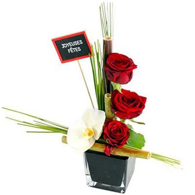 livraison de la composition florale tentation de noel. Black Bedroom Furniture Sets. Home Design Ideas