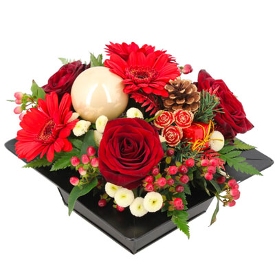Livraison de la composition florale composition hivernale for Livraison composition florale