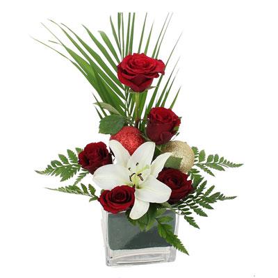 Livraison de la composition florale joyeux noel par - Composition florale noel originale ...