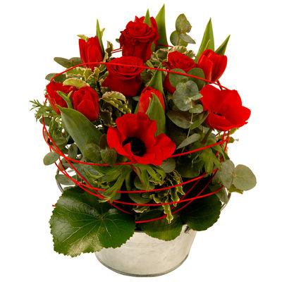 Livraison de la composition florale romance par florajet for Livraison composition florale