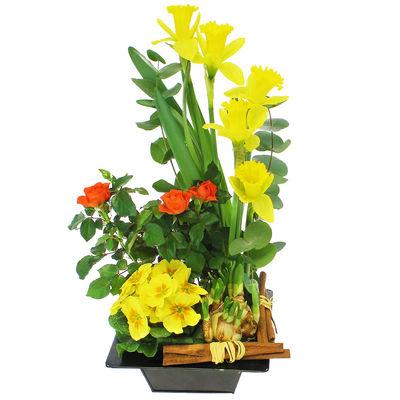 Livraison de la composition florale anniversaire jardin for Jardin deluxe fleurs