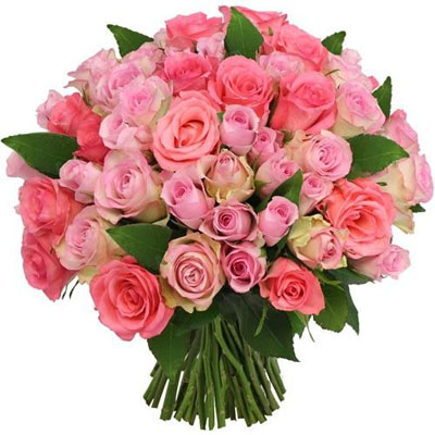 livraison du bouquet de roses 60 roses roses par florajet livraison france express. Black Bedroom Furniture Sets. Home Design Ideas