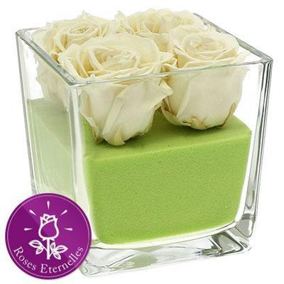 livraison de fleurs blanc sur vert livraison france express. Black Bedroom Furniture Sets. Home Design Ideas
