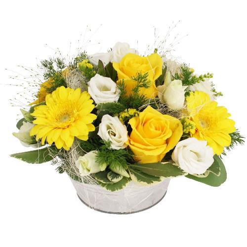 Livraison de la composition florale anniversaire sucre for Livraison composition florale