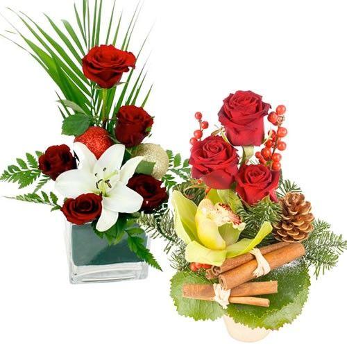 Livraison de la composition florale duo de fetes par for Livraison composition florale