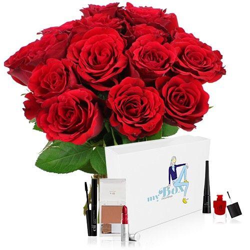 livraison de fleurs 15roses rouges coffret beaute rouge livraison france express. Black Bedroom Furniture Sets. Home Design Ideas
