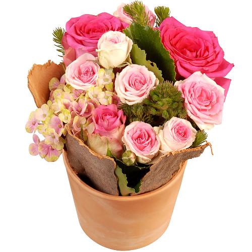 Livraison de la composition florale anniversaire sweet for Bouquet de fleurs pour 70 ans