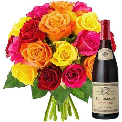 20 ROSES + VIN DE BOURGOGNE 2013