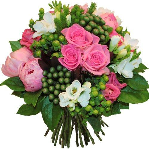 Bouquet rond sucre d orge livraison express florajet for Bouquet de fleurs pour 60 ans