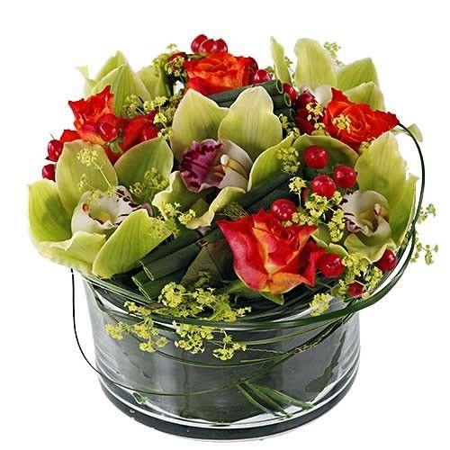 Livraison de la composition florale naissance for Livraison composition florale
