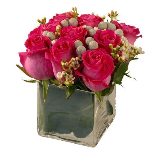 Livraison de la composition florale anniversaire framboisier par florajet - Composition florale anniversaire ...