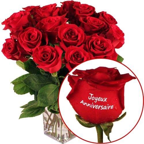 roses marqu es joyeux anniversaire livraison express florajet. Black Bedroom Furniture Sets. Home Design Ideas
