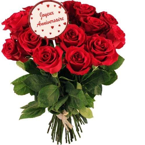 Livraison du bouquet de roses anniversaire 12 roses for Bouquet de fleurs 20 ans
